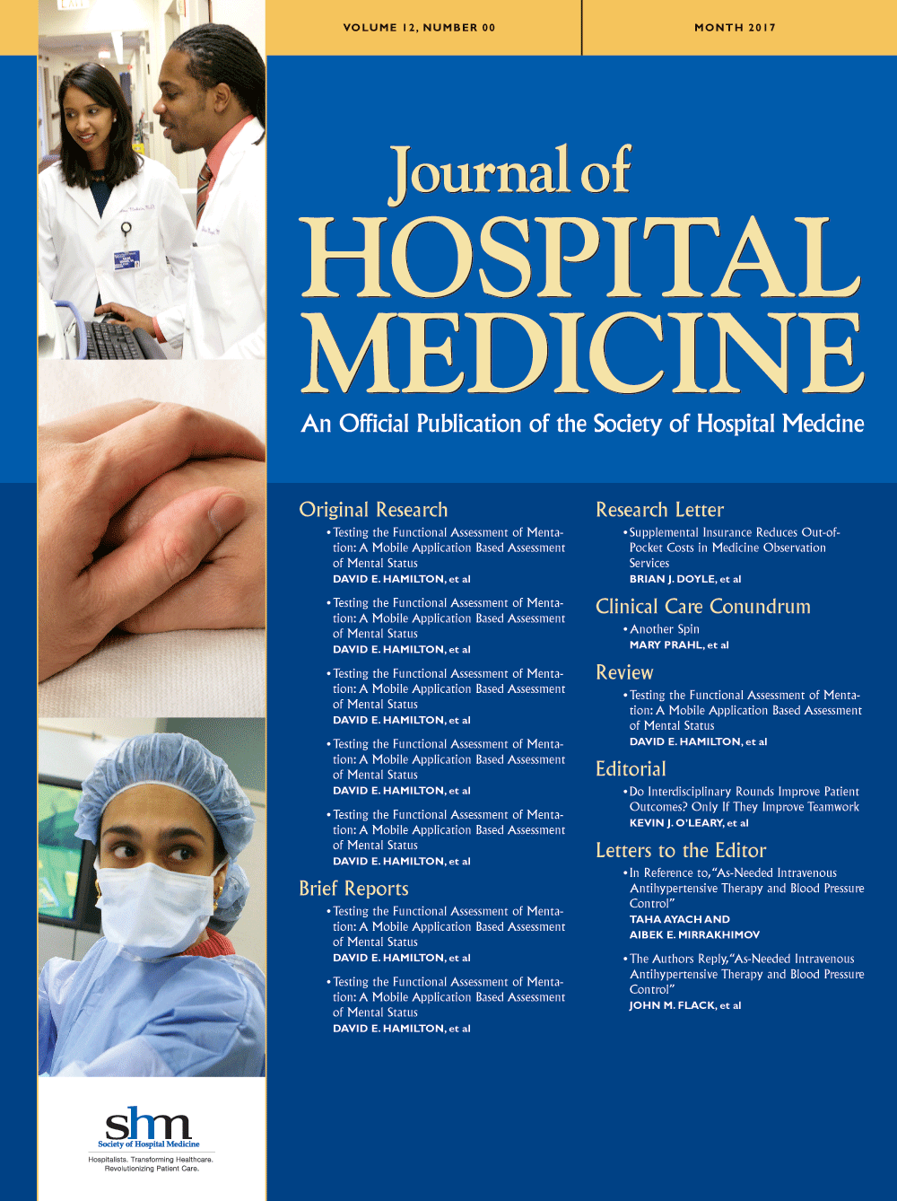 Journal of Hospital Medicine, cover