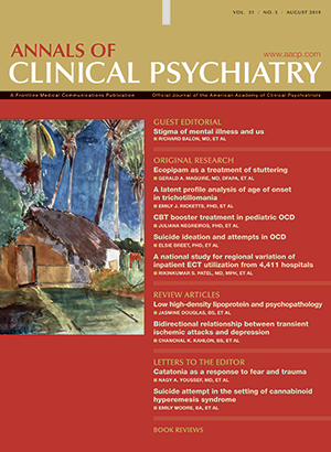Annals of Clinical Psychiatry®