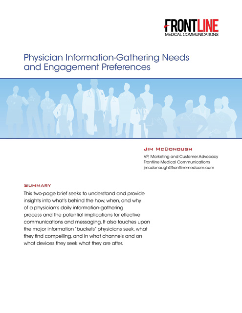 Physician Information-Gathering Needs and Engagement Preferences
